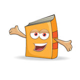 Vector Book Happy Mascot Illustration Royalty Free Stock Image