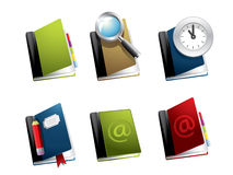Vector book icon set Royalty Free Stock Photos