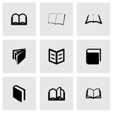 Vector book icon set Stock Photography
