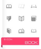 Vector book icon set Stock Image