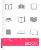 Vector book icons set Stock Photography