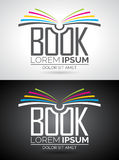 Vector book logo illustration. Stock Photos