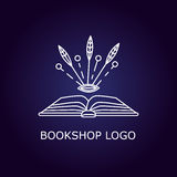 Vector book logo Royalty Free Stock Images