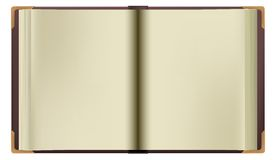 Vector book. Vector old empty brown opened book isolated Royalty Free Stock Photos