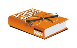 Vector book of public relation. White isolated Vector of public relation Royalty Free Stock Photography