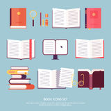 Vector book set stock illustration