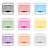 vector book symbols Royalty Free Stock Images