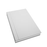 Vector book template, realistic design. Isolated on white Stock Photo