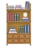 Vector bookcase Royalty Free Stock Photo