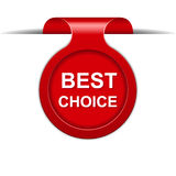 Vector bookmark with best choice message Royalty Free Stock Images