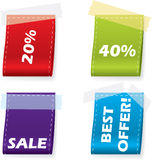 Vector bookmark set. Of four Stock Photography