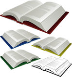 Vector books Royalty Free Stock Photo