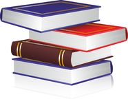 Vector books. Four isolated color books stock illustration