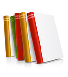 Vector books with blank covers Royalty Free Stock Photos