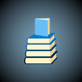 Vector books icon. Royalty Free Stock Photo