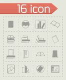 Vector books icon set Stock Images