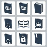 Vector books icons set royalty free illustration