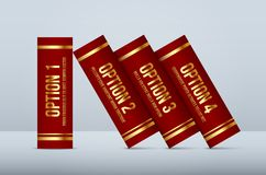 Vector books infographic concept with 4  steps Royalty Free Stock Photo