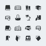 Vector books and reading icons set Royalty Free Stock Image