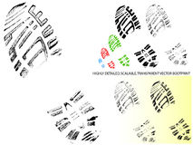 Vector Bootprint - Highly detailed and transparent Stock Photo
