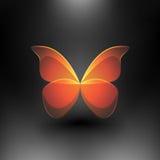 Vector a borboleta brilhante Fotos de Stock Royalty Free