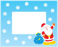 Vector border with Santa Claus Royalty Free Stock Image