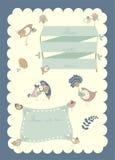 Vector border set, birds and flowers. Vector borders set with birds and flowers Stock Illustration