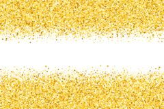 Border with shimmer stars. Golden frame. Vector border with shimmer stars. Gold sparkle. Golden frame of stars. Border. Confetti Royalty Free Stock Photo