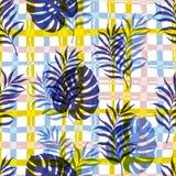 Vector Botanical Seamless Modern Pattern Stock Photos
