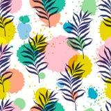 Vector Botanical Seamless Modern Pattern Royalty Free Stock Photos