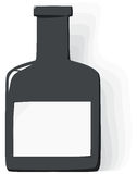 Vector bottle with label on white background Royalty Free Stock Images