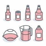 Vector bottles Stock Image