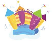 Vector bouncykasteel Royalty-vrije Stock Fotografie