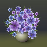 Vector bouquet of cornflower Stock Photography