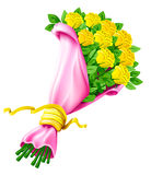 Vector bouquet of rose flowers isolated on white royalty free illustration