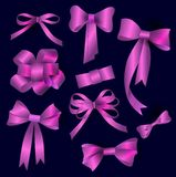 Vector bow collection Royalty Free Stock Image