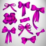 Vector bow collection. Royalty Free Stock Photos