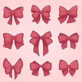 Vector bow collection Royalty Free Stock Photos