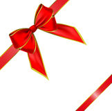 Vector bow and ribbon Royalty Free Stock Photo