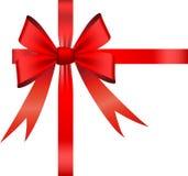 Vector bow and ribbon Royalty Free Stock Photos