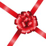 Vector bow and ribbon Stock Images