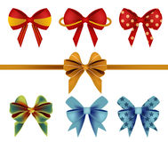 Vector of Bow Ribbon Set Stock Images