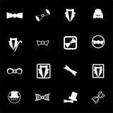 Vector bow-tie icon set Stock Photography