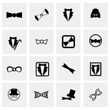 Vector bow-tie icon set Royalty Free Stock Photography
