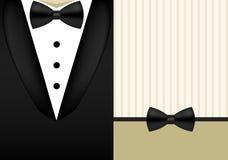 Vector bow tie tuxedo invitation design template Royalty Free Stock Photos