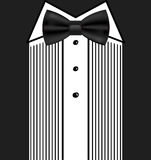 Vector bow tie tuxedo invitation design template Royalty Free Stock Photography