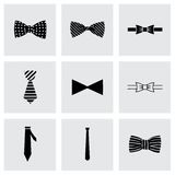 Vector bow ties icon set Stock Photography