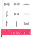 Vector bow ties icon set Stock Image