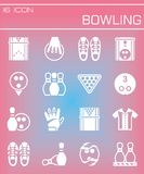 Vector Bowling icon set Royalty Free Stock Image