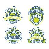 Vector bowling logo emblems. Royalty Free Stock Photography